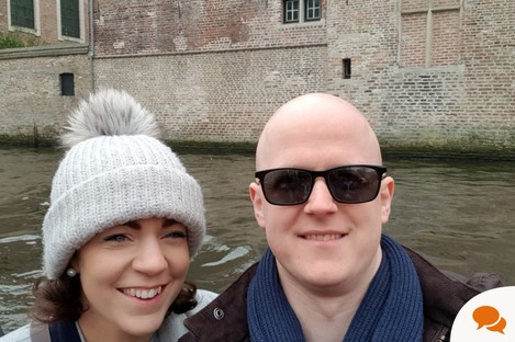 Niall with his girlfriend Rachel in Bruges