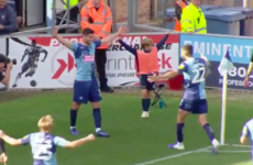'The most incredible hat-trick you'll see': League One defender scores two corners and free-kick