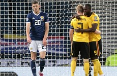 Belgium hammer sorry Scotland to close in on Euro 2020 qualification