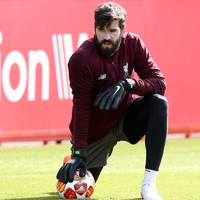 Liverpool's Alisson making 'steady progress' after return to training