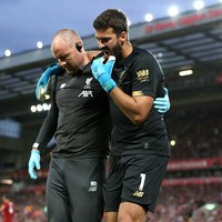 Alisson to miss another seven games for Liverpool as Klopp favours cautious approach