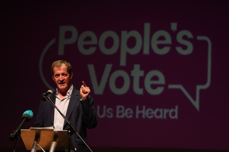 Alastair Campbell chaired the event in the Ulster Hall.