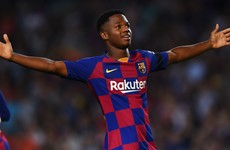 16-year-old Fati stars as Barca thump Valencia without Messi