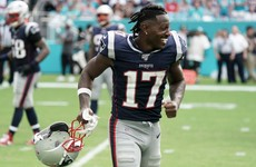 Antonio Brown scores in Pats debut as NFL champs thump Dolphins