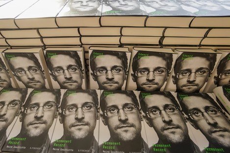 Copies of Edward Snowden's new book Permanent Record: My Story.