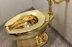 UK makes second arrest in golden toilet theft