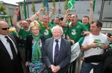 Slideshow: Michael D. Higgins travels to Poland with Irish fans