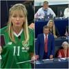 Nigel Farage says EU's tone is 'emollient' as Martina Anderson dons Irish jersey in EU parliament