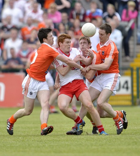 Bursting through: Peter Harte and Tyrone found a way to advance