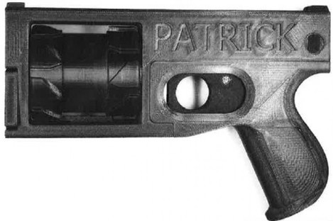 Firearm produced using 3D printer