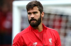 Alisson making 'big progress' and edging closer towards Liverpool return