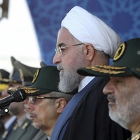Iranian president warns foreign forces to stay out of the Gulf
