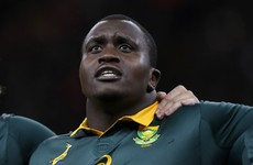 Former Munster prop du Toit called up as Springboks lose Nyakane