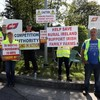 Farmer protests end outside factories - but meat industry says 100,000 cattle in backlog