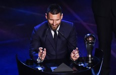 Messi beats Ronaldo and Van Dijk to Fifa's Player of the Year award