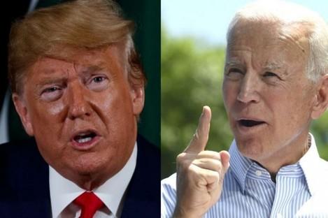 US President Donald Trump and former US Vice President Joe Biden.