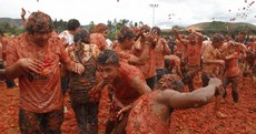 VIDEO: Colombia's annual tomato fight