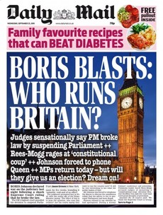 'Who runs Britain?': UK papers divided over Supreme Court ruling as parliament returns
