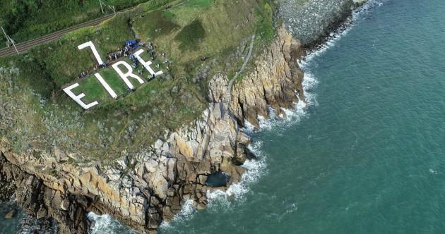 Dalkey volunteers restore World War II 'Eire' sign