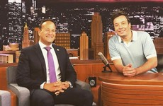 Varadkar meets Jimmy Fallon while on US trade mission