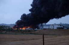 Huge fire breaks out at chemical plant in northern France