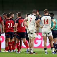 Watch: USA's Irish-born flanker Quill cited after World Cup red card