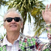 VIDEO: Bill Murray splashes around on a rain tarp at a Minor League baseball game