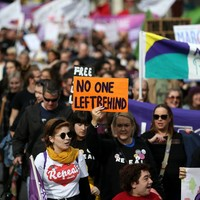 PHOTOS: Large crowds take to the streets of Dublin for this year's March for Choice