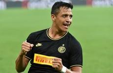 Alexis Sanchez scores, gets sent off for diving on Inter debut