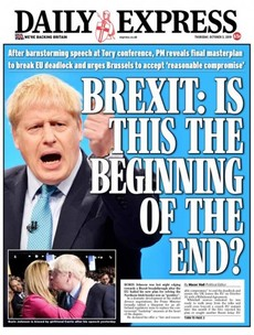 'Dismay in Brussels': UK front pages react to Boris Johnson's backstop alternative