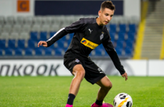 Irish-eligible teenager on the bench for Borussia Mönchengladbach tonight