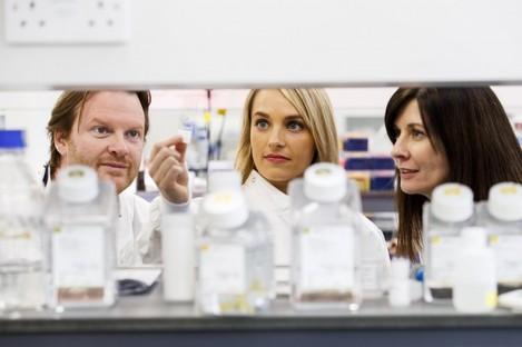 Professor Darran O'Connor, researcher Dr Louise Walsh and Dr Tríona Ní Chonghaile.