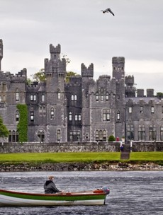 World champion prepares for cliff diving series with jump into Lough Corrib - from a helicopter