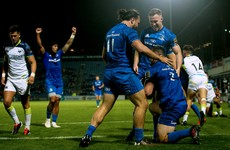 Kelleher's hat-trick propels Leinster to eight-try hammering of Ospreys