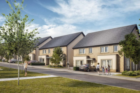 An artist's impression of the development at Capdoo in Kildare