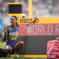 Dalilah Muhammad storms to world record as Barshim seals gold for Qatar