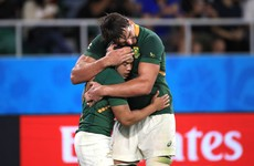 Relief for the Springboks as X-ray clears Kolbe of ankle injury