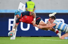 Efficient England seal quarter-final spot with win over 14-man Argentina