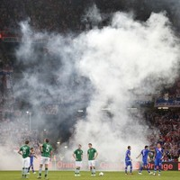 Any chance of a walkover, lads? Croatia in dock for flares, smoke bombs
