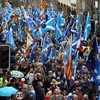 Thousands march in pro-independence protest in Scotland