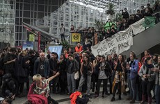 Paris climate activists barricade themselves into shopping centre ahead of Extinction Rebellion protests