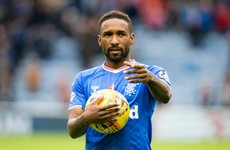 36-year-old Jermain Defoe's hat-trick sends Rangers to top of Scottish Premiership