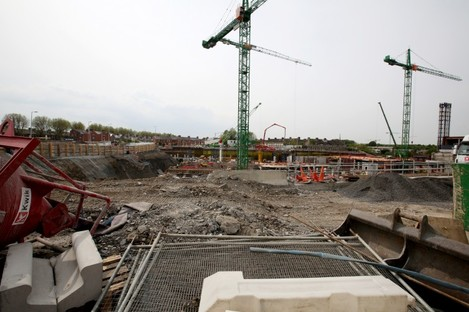 Construction at the site of the new National Children's Hospital.