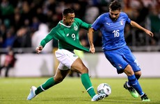 Troy Parrott and Moise Kean sent off, as Ireland draw with Italy in front of record Tallaght crowd
