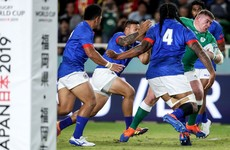 Watch: Three early tries hand Ireland perfect start against Samoa