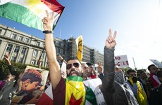 Kurdish people in Ireland and Europe protest against Turkey's Syria offensive