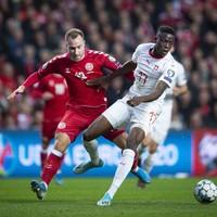 Denmark beat Switzerland to go level on points with Ireland