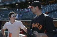 PHOTOS: Rory McIlroy throws ceremonial first pitch at SF Giants game