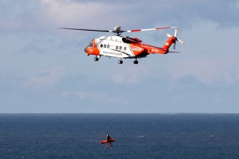 Rescue 115's winchman/paramedic was winched down to the scene and airlifted the woman to hospital.