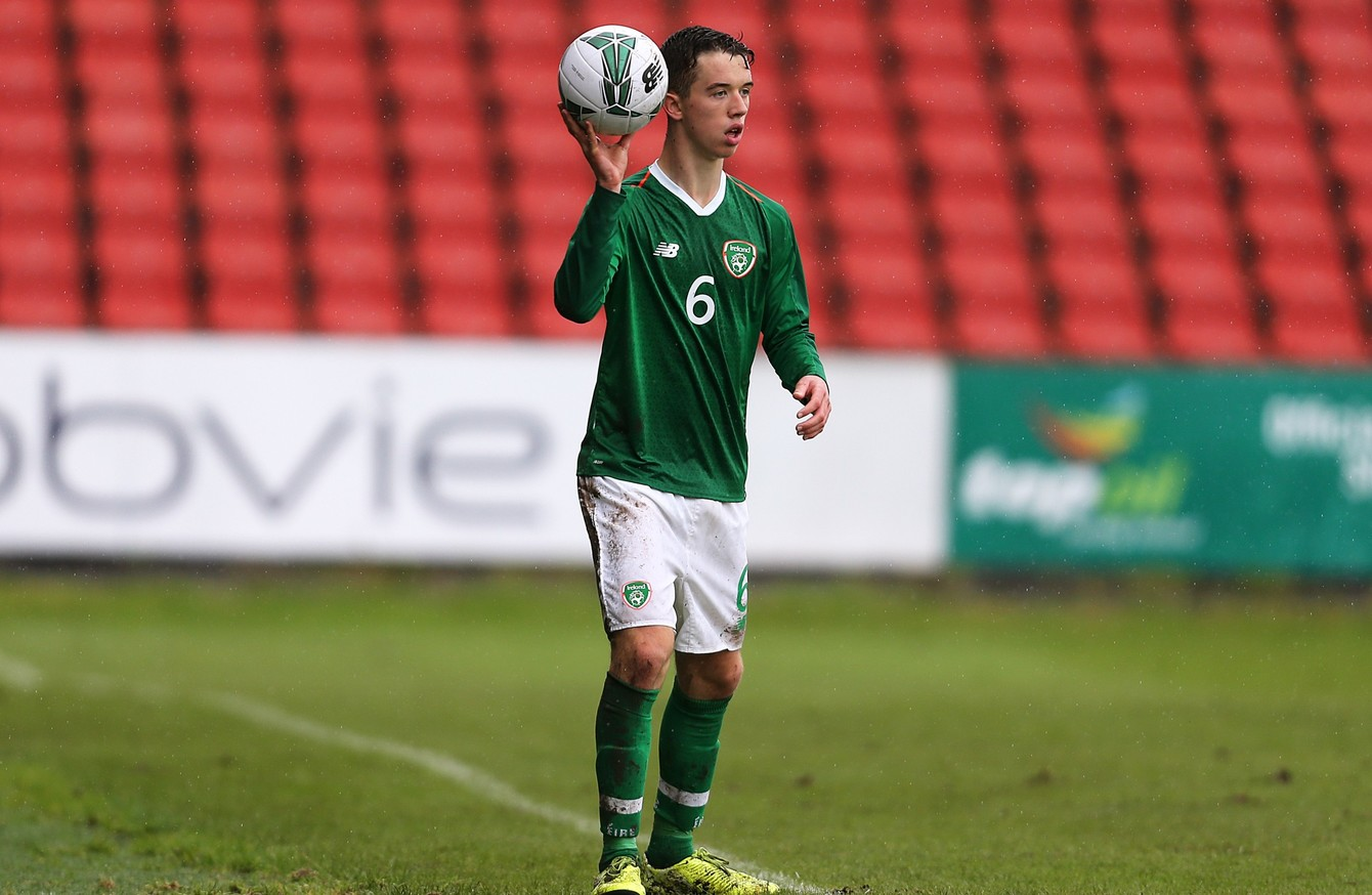 Phil Neville's son Harvey makes Ireland U19s debut in Denmark defeat